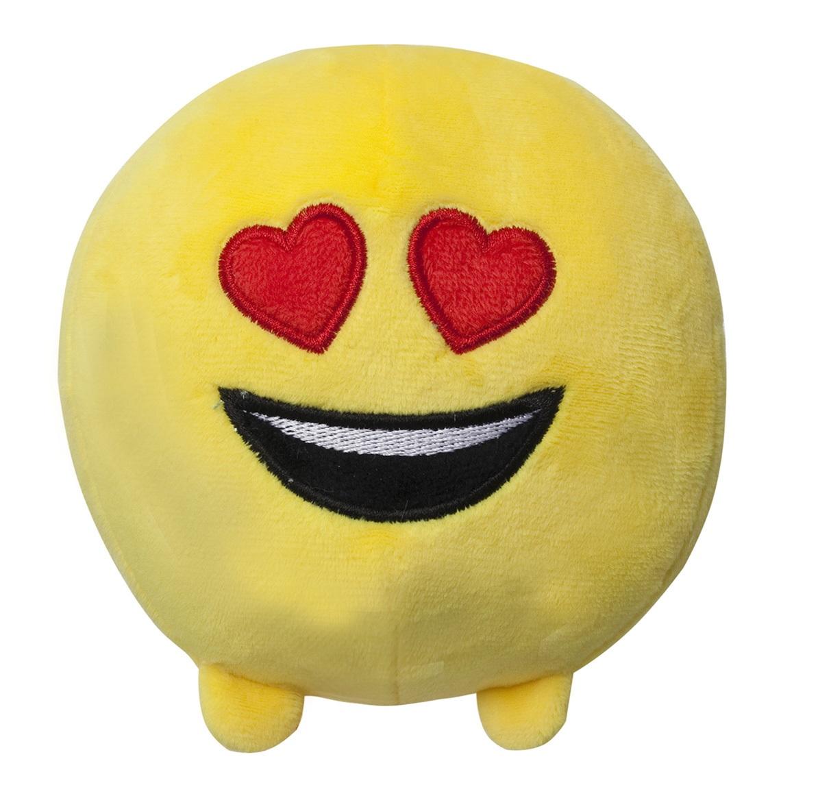 Мягкая игрушка Imoji. Влюблён (11 см)Представляем вашему вниманию мягкую игрушку Imoji. Влюблён в виде одного из смайлов самого популярного месенджера WhatsApp.<br>
