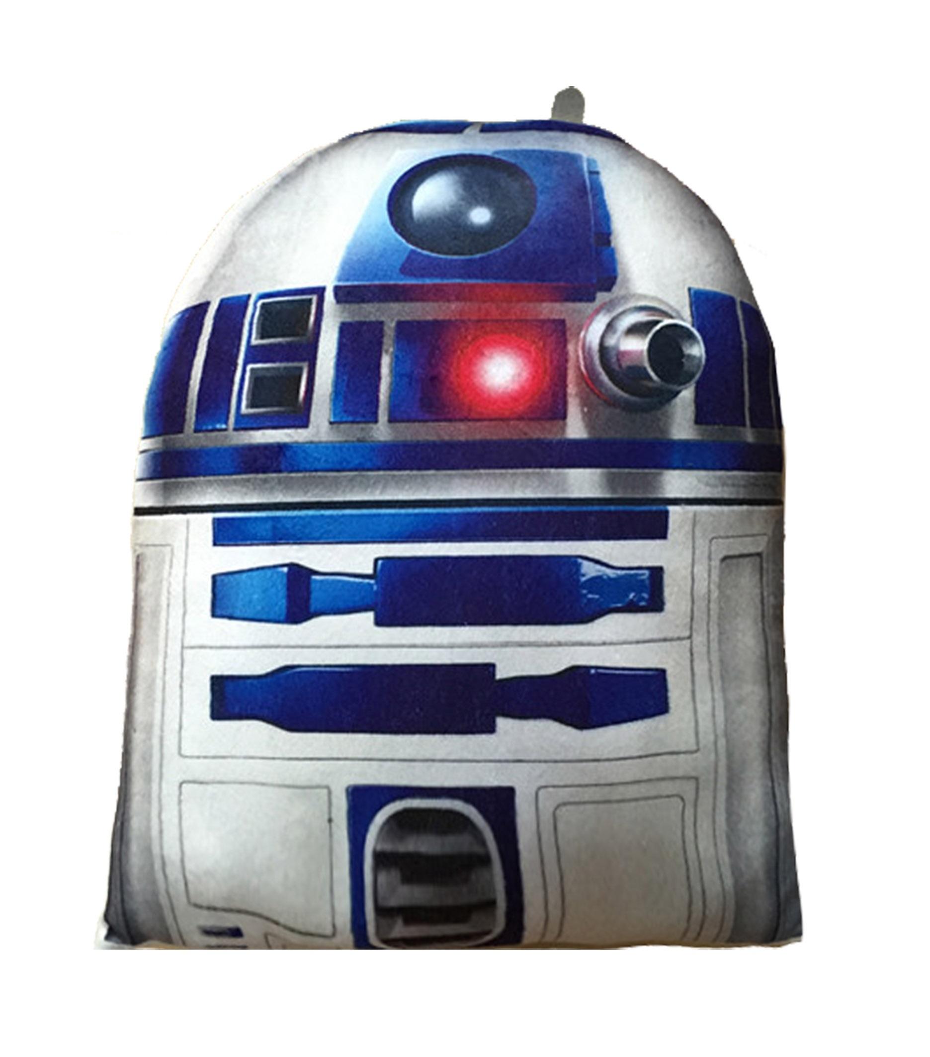Мягкая игрушка-подушка Star Wars. R2-D2 (20 см)Представляем вашему вниманию мягкую игрушку-подушку Star Wars. R2-D2, созданную по мотивам саги о Звездных войнах.<br>