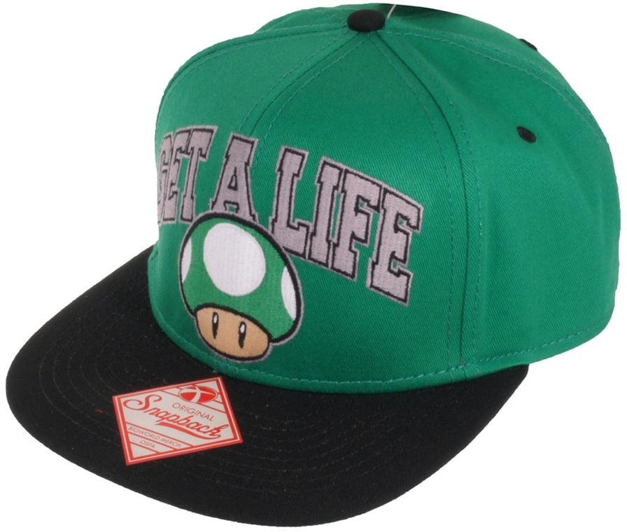 Бейсболка Nintendo. Get A Life Mushroom (Зелёная)