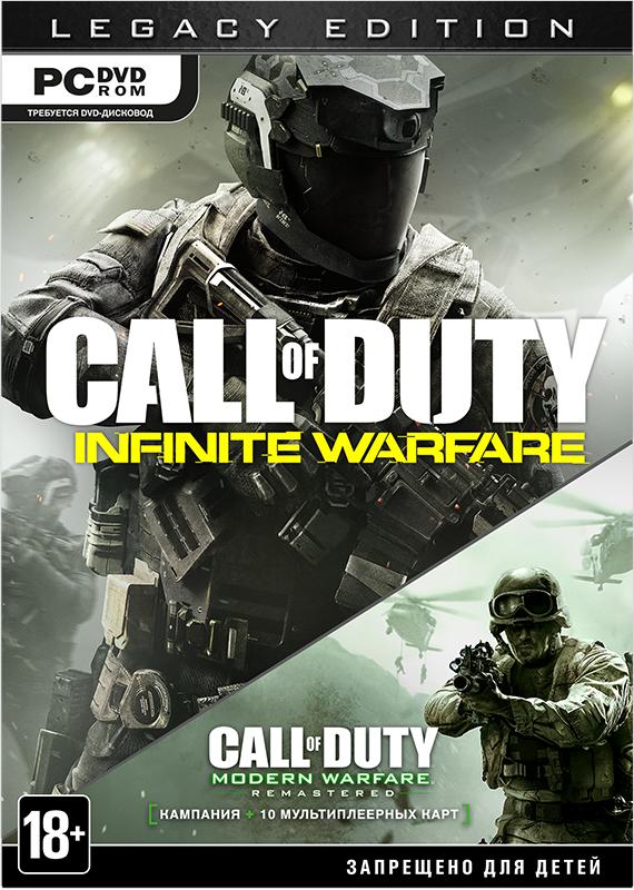 Call of Duty: Infinite Warfare Legacy Edition [PC]Call of Duty возвращается к своим истокам, чтобы с беспрецедентным размахом рассказать классическую историю о грандиозном сражении двух армий. В Call of Duty: Infinite Warfare вас ждет реалистичная военная драма в фантастических декорациях &amp;ndash; в будущем, где конфликт между людьми вышел далеко за пределы планеты.<br>