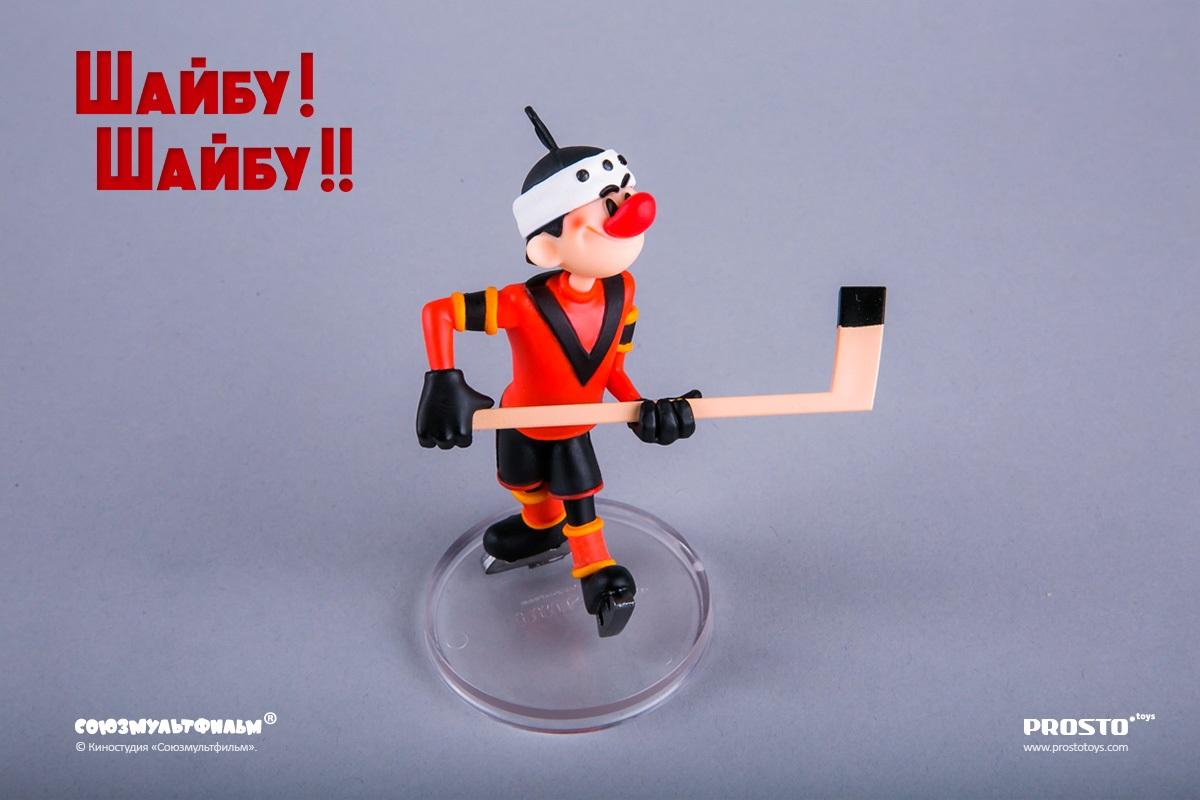 Фигурка Шайбу! Шайбу!! Игрок 1. «Метеор» (10 см)Представляем вашему вниманию фигурку Шайбу! Шайбу!! Игрок 1. «Метеор», созданную по мотивам доброго и умного советского мультфильма.<br>