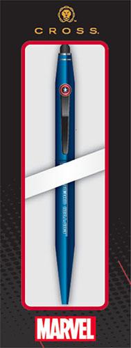 Шариковая ручка со стилусом Marvel. Капитан АмерикаКультовый супергерой Marvel оживает на корпусе шариковой ручки со стилусом Marvel. Капитан Америка, которая с легкостью превращается из ручки в стилус и обратно.  Дизайн и эмблема на клипе ручки посвящены одному из самых популярных супергероев: Капитану Америке.<br>
