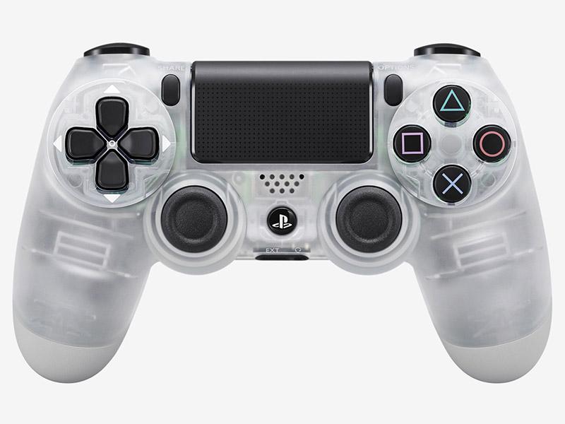 Беспроводной геймпад DualShock 4 Crystal для PS4 (кристалл)