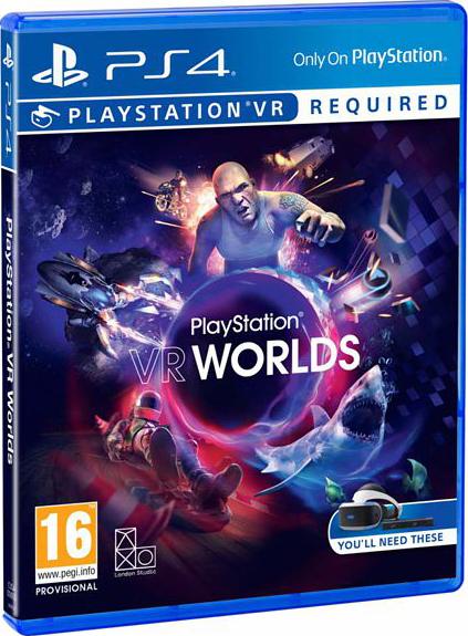 PlayStation VR Worlds (только для VR) [PS4]Шагните в PlayStation VR Worlds и начните путешествие по пяти уникальным и эксклюзивным мирам PlayStation VR.<br>