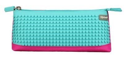 Пиксельный пенал (Pencil Case) WY-B002 (Фуксия/голубой)