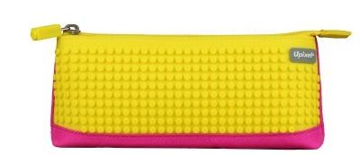Пиксельный пенал (Pencil Case) WY-B002 (Фуксия/банановый желтый)
