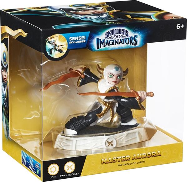 Skylanders Imaginators: Интерактивная фигурка Сэнсэй Aurora (стихия Light)Aurora племянница мастера Эона. В течение многих лет он пытался сохранить ее личность в тайне, чтобы обеспечить ей безопасность. Повзрослев, мечтала лишь об одном &amp;ndash; стать Скайлендером, но Эон не мог этого допустить. Втайне от дяди Aurora тренировалась фехтованию и боевым искусствам, маскируясь и взяв псевдоним Boss Blades McSlashinator.<br>