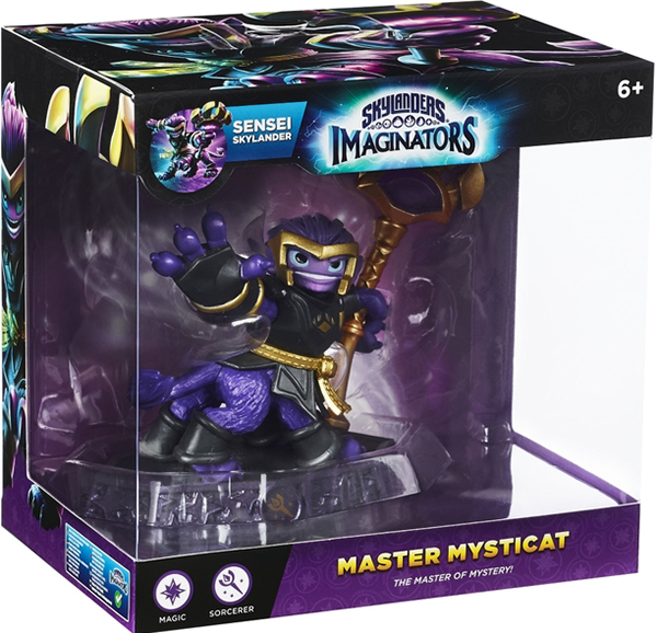 Skylanders Imaginators: Интерактивная фигурка: Сэнсэй Mysticat (стихия Magic)Mysticat является существом семейства кошачьих с шестью конечностями. Он владеет магией в Skylanders: Imaginators и является тренером Imaginators, обучая новобранцев боевому магическому классу.<br>