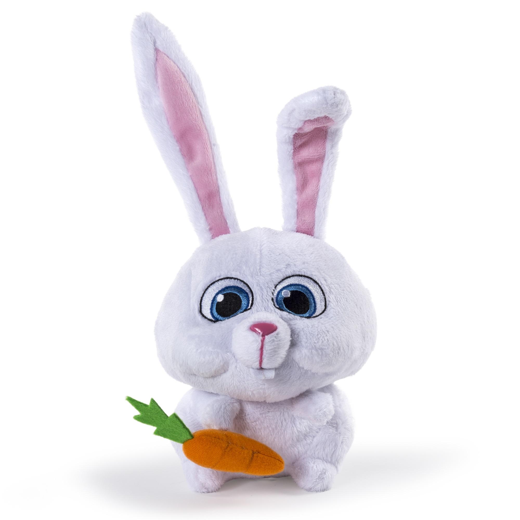 Мягкая игрушка Тайная жизнь домашних животных (Secret Life Of Pets). Кролик Снежок с морковкой (15 см)