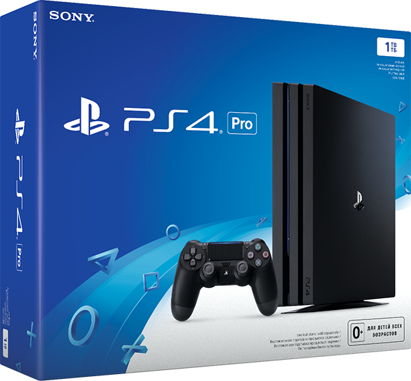 Sony PlayStation 4 Pro (1 TB) Black (CUH-7108В) sony playstation 4 pro 1tb cuh 7008b