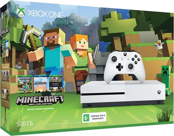 Комплект предзаказа на консоль Xbox One S (500 GB) + игра Minecraft Favorites (Цифровая версия)