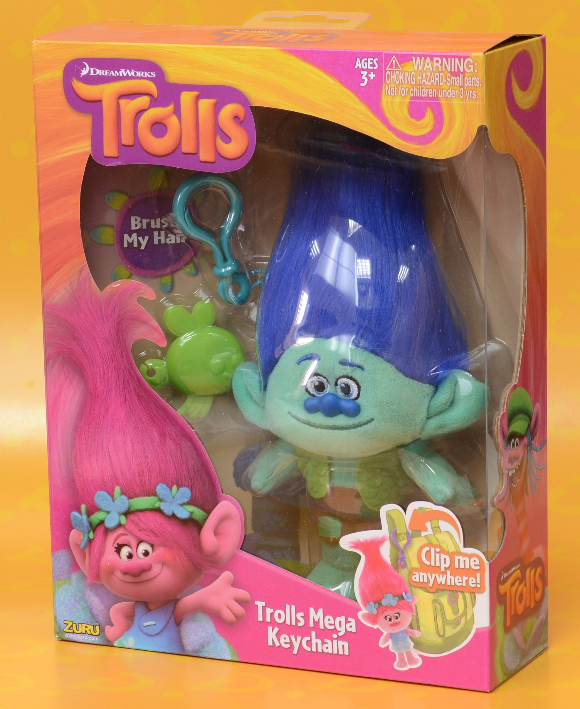 Мягкая игрушка Trolls. Тролль Цветан (Branch) веселый