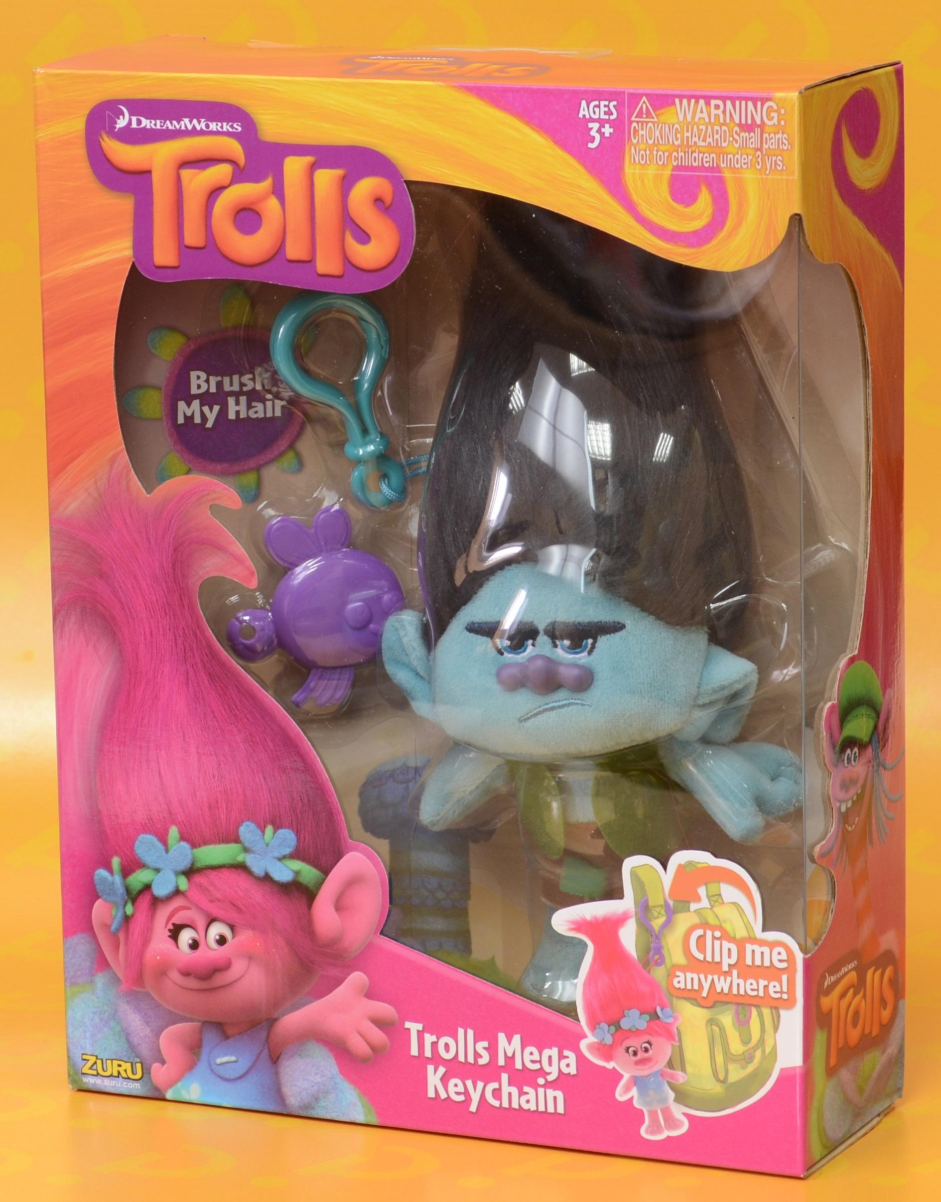 Мягкая игрушка Trolls. Тролль Цветан (Branch) хмурый