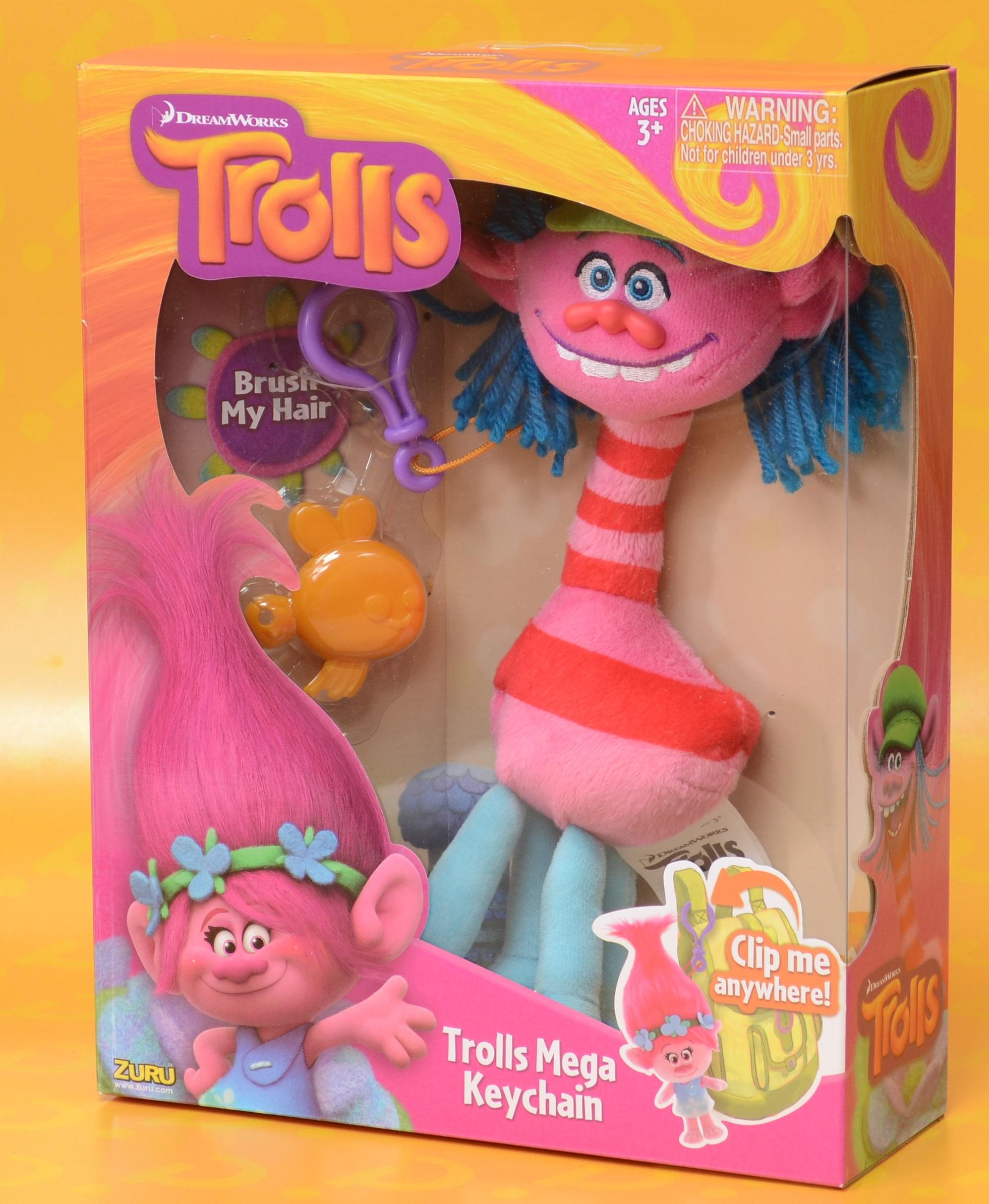 Мягкая игрушка Trolls. Тролль Купер (Cooper)Представляем вашему вниманию мягкую игрушку Trolls. Тролль Купер, созданную по мотивам анимационного фильма производства DreamWorks Animation.<br>