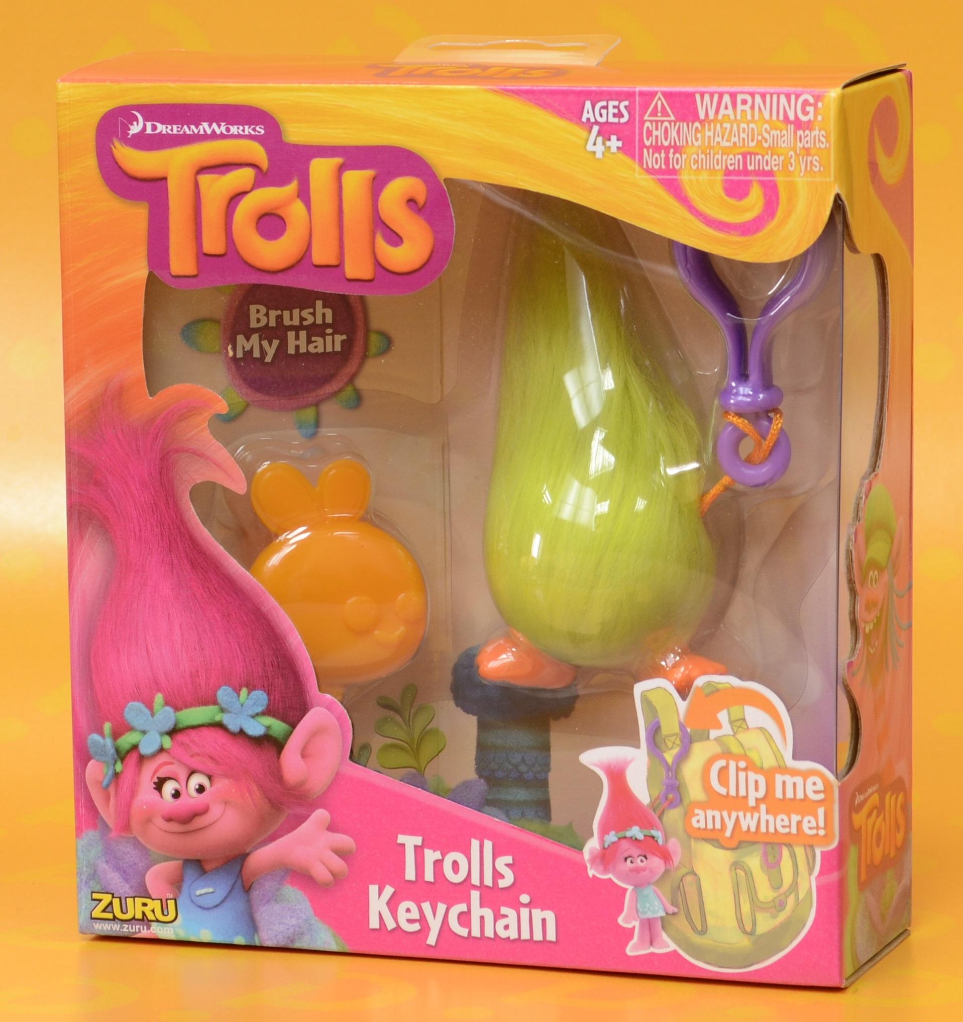 Брелок Trolls. Тролль Пушистик (Fuzzbert) мягкая игрушка trolls тролль пушистик fuzzbert