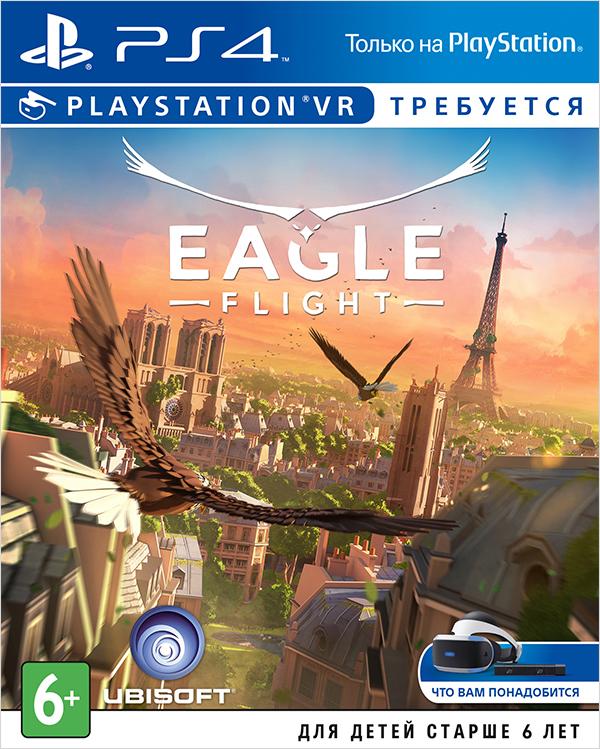 Eagle Flight (только для VR) [PS4]Игра Eagle Flight &amp;ndash; приключение, разработанное специально для платформ виртуальной реальности. Вы окажетесь на высоте птичьего полета над одним из самых популярных городов планеты и примите участие в невероятных битвах в воздухе!<br>