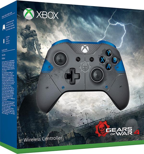 Беспроводной геймпад для Xbox One лимитированной серии Gears of War 4 JD Fenixс с 3.5 мм разъемом и Bluetooth (синий)