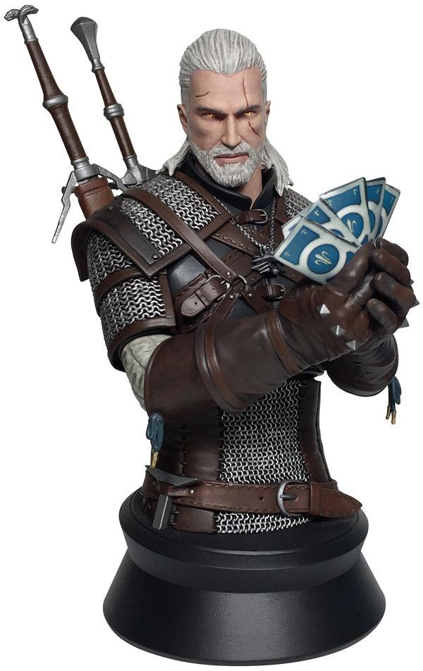 Бюст The Witcher 3 Wild Hunt: Geralt Playing Gwent (22 см)Представляем вашему вниманиюбюст The Witcher 3 Wild Hunt: Geralt Playing Gwent, созданный по мотивам популярной ролевой игры «Ведьмак 3: Дикая Охота».<br>