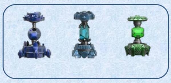 Skylanders Imaginators: Набор из 3 кристаллов (стихии Water / Air / Life)