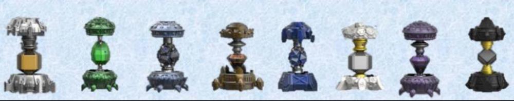 Skylanders Imaginators. Набор из 8 кристаллов (стихии Tech/Life/Undead/Earth/Water/Light/Magic/Dark)