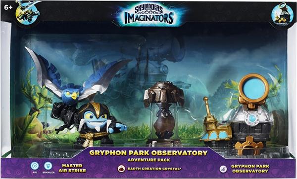 Skylanders Imaginators: Набор Adventure Pack (Сэнсэй Air Strike/кристал Earth/Observatory)Skylanders Imaginators. Набор Adventure Pack (Сэнсэй Air Strike/кристал Earth/Observatory) &amp;ndash; уникальный набор для прохождения дополнительного уровня Gryphon Park, который включает фигурку Сенсея Air Strike, Кристалл и Обсерваторию.<br>
