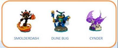 Skylanders Imaginators. Набор из 3 фигурок №1 (Smolderdash/Dune Bug/Cynder)