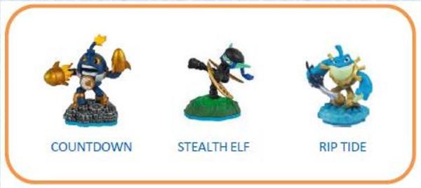 Skylanders Imaginators. Набор из 3 фигурок №3 (Countdown/Stealth Elf/Rip Tide)