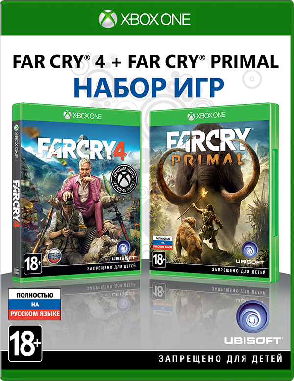 Комплект игр Far Cry 4 + Far Cry Primal [Xbox One] ubisoft rabbids invasion xbox one английский