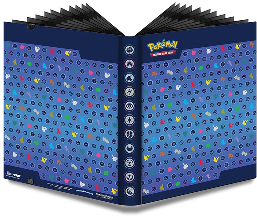 Альбом для карт Pokemon. Синий настольные игры tomy альбом для карт покемон синий 9 1 pokemon silhouettes pro binder 9 pocket