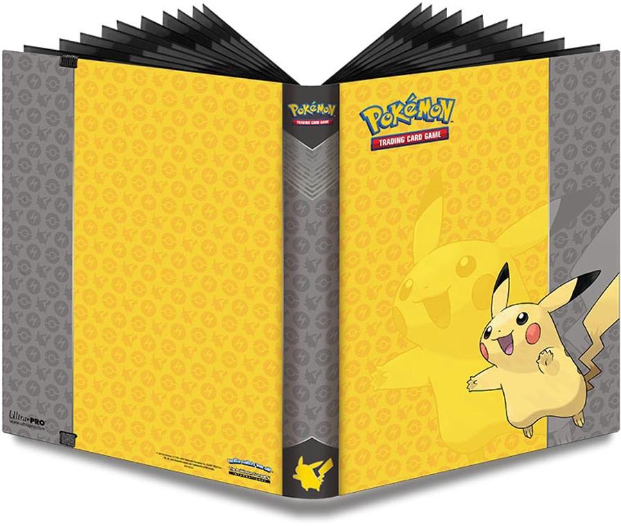 Альбом для карт Pokemon. Пикачу настольные игры tomy альбом для карт покемон синий 9 1 pokemon silhouettes pro binder 9 pocket
