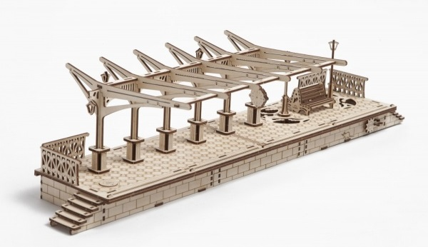 Конструктор 3D-пазл Ugears. Перрон