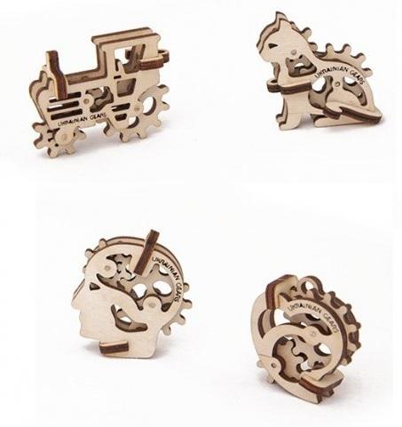 Конструктор 3D-пазл Ugears. Трибики (4 шт.)Представляем вашему вниманию конструктор 3D-пазл Ugears. Трибики, модель для самостоятельной сборки без клея от компании Ugears.<br>