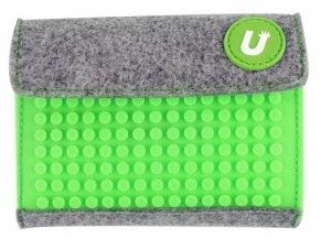 Пиксельный кошелек (Pixel felt small wallet) WY-B007 (зеленый) большой пиксельный универсальный чехол для смартфона pixel felt phone pocket фуксия зеленый