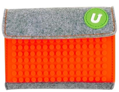Пиксельный кошелек (Pixel felt small wallet) WY-B007 (светло-оранжевый) большой пиксельный универсальный чехол для смартфона pixel felt phone pocket фуксия зеленый