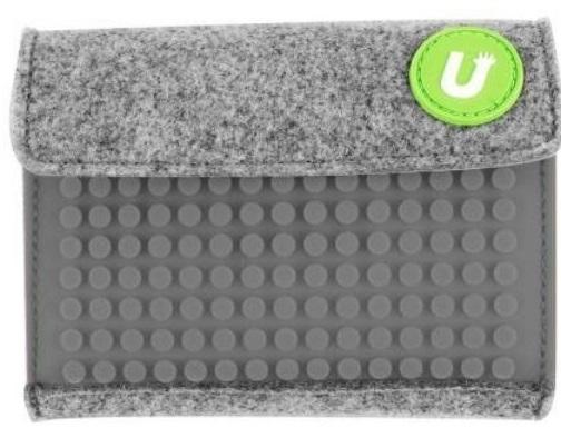 Пиксельный кошелек (Pixel felt small wallet) WY-B007 (серый) большой пиксельный универсальный чехол для смартфона pixel felt phone pocket фуксия зеленый