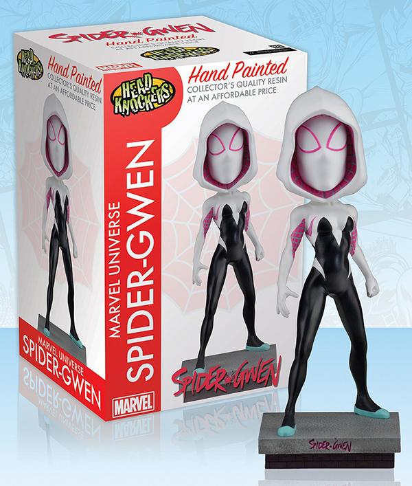 Фигурка Marvel. Spider-Gwen Classic Masked. Headknocker (20 см)Фигурка Marvel. Spider-Gwen Classic Masked Headknocker воплощает собой Гвен Стейси – персонажа серии комиксов вселенной Marvel о человеке-пауке.<br>