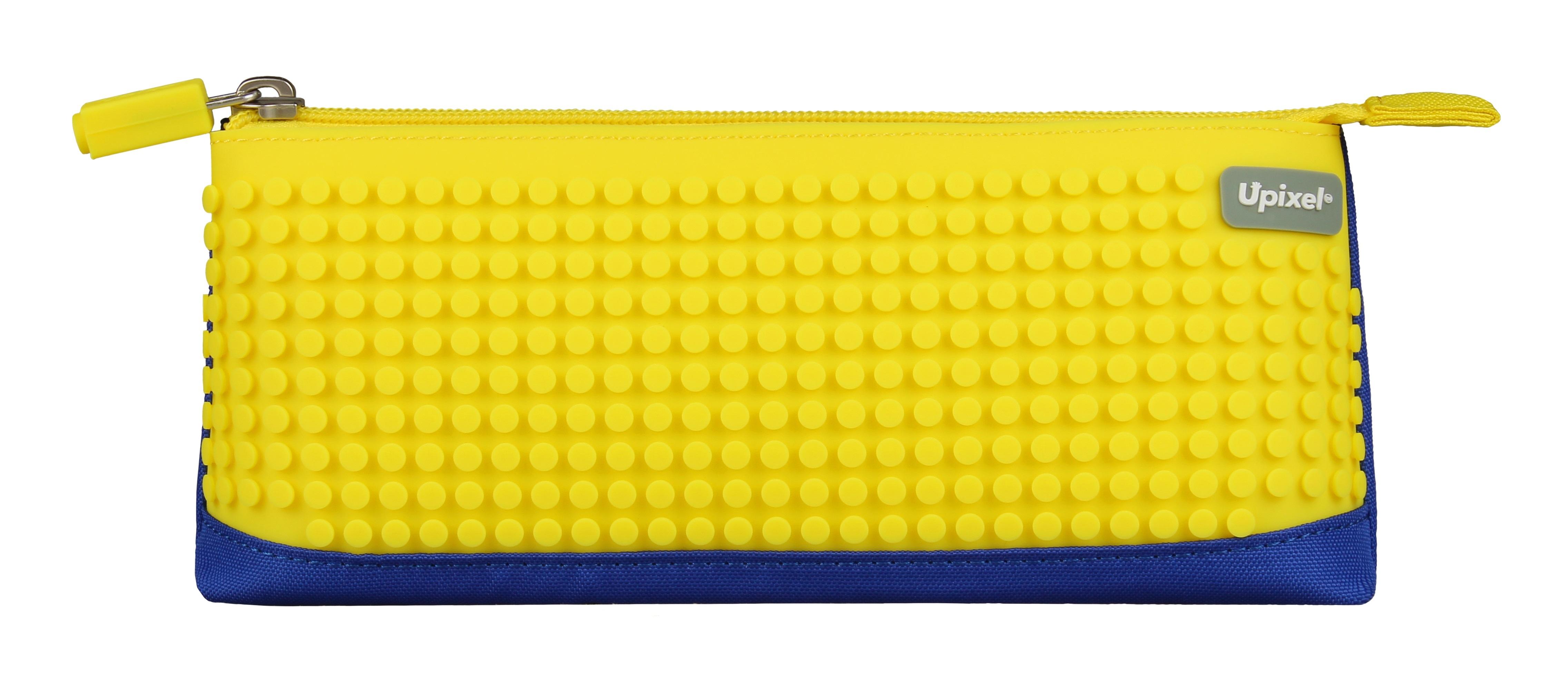 Пиксельный пенал (Pencil Case) WY-B002 (синий/банановый желтый)