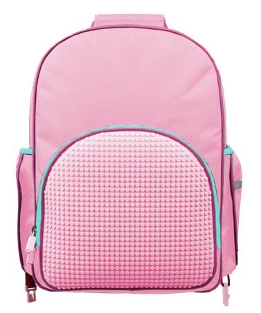 Пиксельный рюкзак на роликах (Super Class Rolling Backpack) WY-A024 (розовый) #9600. пиксельный, рюкзак