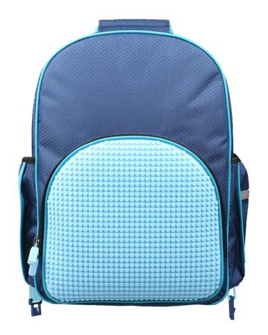 Пиксельный рюкзак на роликах (Super Class Rolling Backpack) WY-A024 (темно-синий) hexagonal jumping fitness trampoline with handrail