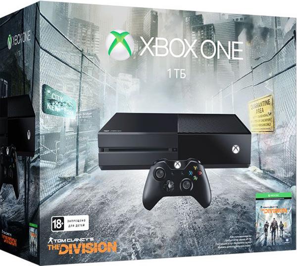 Комплект Xbox One (1 TB)  + игра Tom Clancys The Division [KF7-00139]Комплект Xbox One (1 TB) + игра Tom Clancys The Division включает в себя  консоль Xbox One, а также игру Tom Clancys The Division – шутер с открытым миром в условиях пандемии.<br>