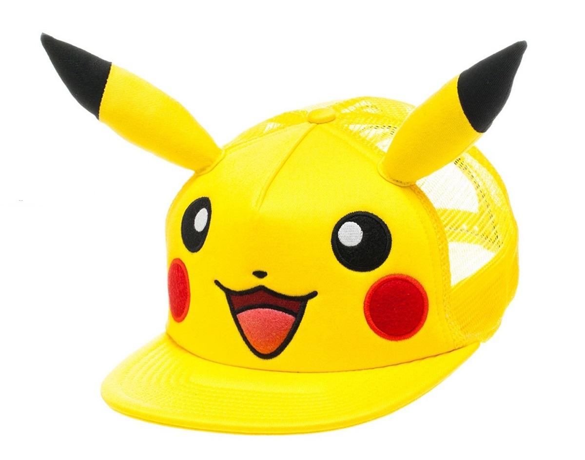 Бейсболка Pokemon. Pikachu with ears Snapback