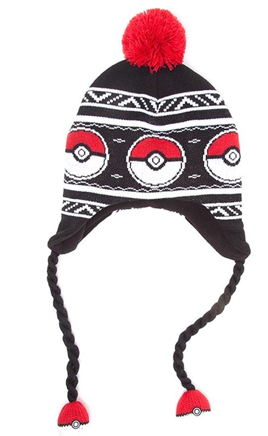 Шапка Pokemon. Pokeball Laplander Beanie