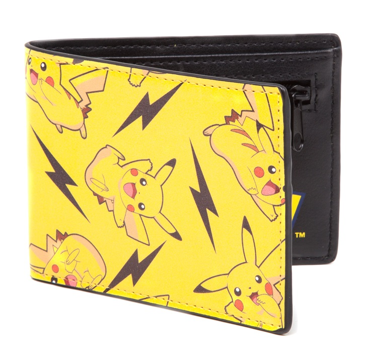 Кошелек Pokemon. All Over Pikachu Bifold Wallet japan anime pocket monster pokemon pikachu cosplay wallet men women short purse leather pu coin card holder bag