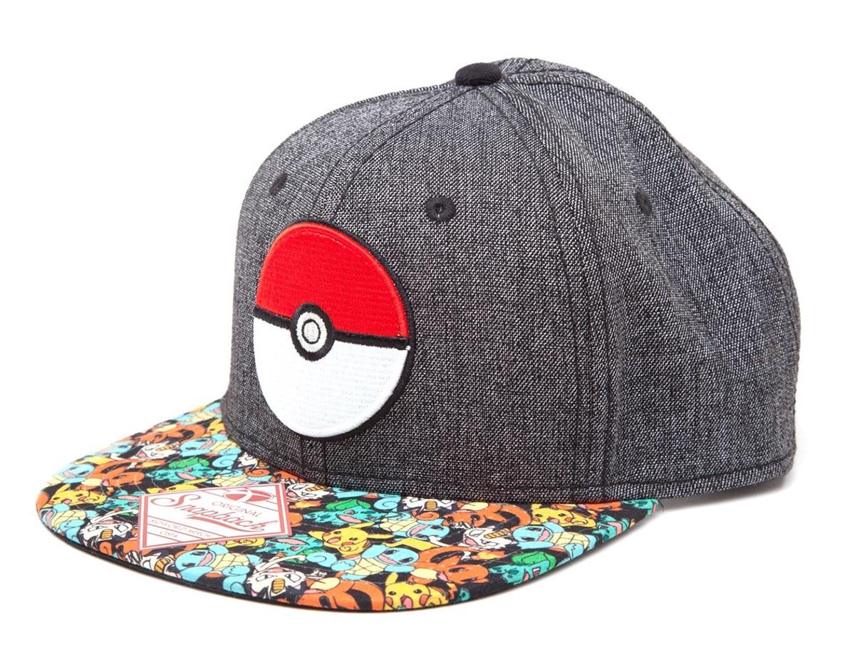 Бейсболка Pokemon. Poke Ball Snapback