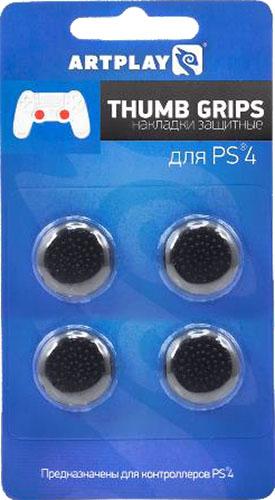 Защитные накладки Artplays Thumb Grips на стики геймпада DualShock 4 для PS4 (4 шт., черные)Защитные накладки Artplays Thumb Grips защищают стики геймпада DualShock 4 от стирания.<br>