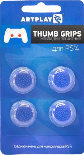 Защитные накладки Artplays Thumb Grips на стики геймпада DualShock 4 для PS4 (4 шт., синие)
