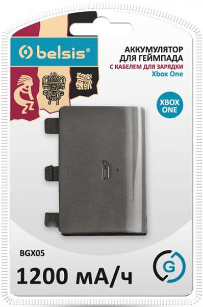 Аккумулятор с кабелем зарядки Belsis для геймпада Xbox OneПока имеющийся у вас аккумулятор используется для игры на джойстике, второй заряжается. Комплект Belsis BGX05 из аккумулятора и кабеля зарядки геймпада для Xbox One создан для удобной и бесперебойной игры. Оснащен кабелем для зарядки, который подключается к USB порту.<br>