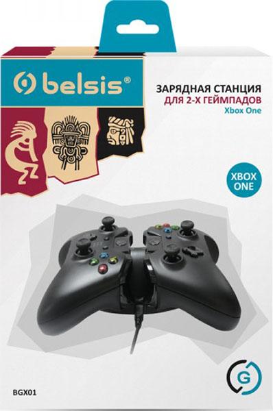 Зарядная станция Belsis на 2 геймпада для Xbox One (BGX01)Зарядная станция Belsis BGX01 на 2 геймпада для Xbox One &amp;ndash; прекрасное решение для любителей активно поиграть в XBOX ONE. Позволяет одновременно подзаряждать оба геймпада, как от электросети. так и от компьютера или ноутбука. Благодаря этому игровой процесс может быть бесперебойным.<br>
