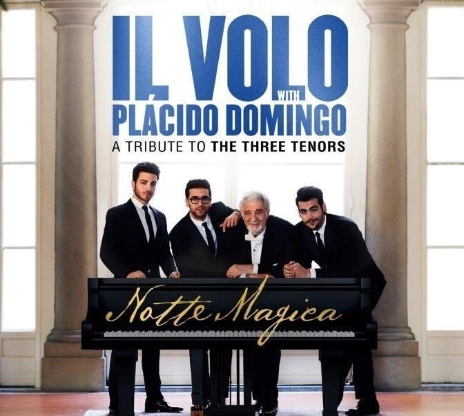 Il Volo With Placido Domingo: Notte Magica – A Tribute To Three Tenors (CD)Notte Magica: A Tribute To Three Tenors – концерт-посвящение «трём тенорам» от итальянского поп-трио Il Volo, продавшего больше 2 млн записей, записанный совместно с великим Placido Domingo.<br>