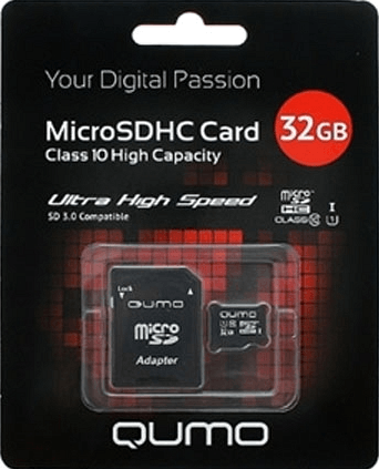 Карта памяти Qumo microSDHC 32GB class 10 UHS-I + адаптер SD карта памяти other jvin 8gtf